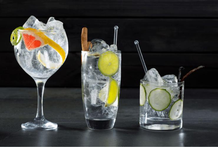 Common gin mixers